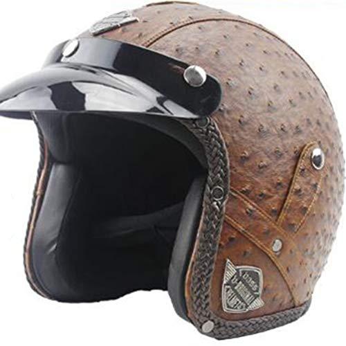 Uomini donne retrò moto Caschi leggero anti shock aperto faccia fuori strada moto casco moto motocross racing Caps Hat per la testa di protezione