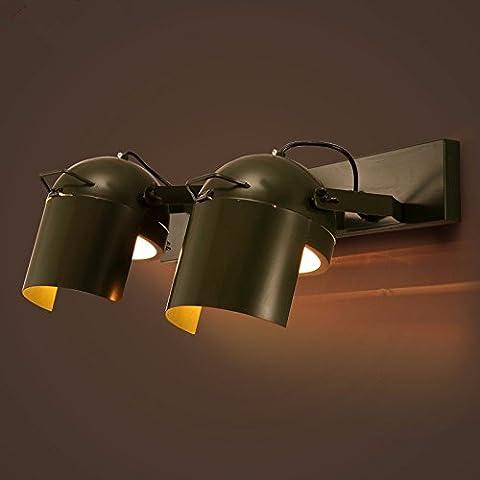 GK-les lampes décoratives, des casques, creative cafés, restaurants, bars, personnalisé des éléments décoratifs en fer, corridor probe, mur lampe,double,60 * 24 cm