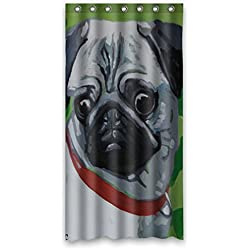 "CARLINO goliton Doubee easiskins animales de poliéster cortina de ducha 91,44 cm x 182,88 cm, 90 cm x 183 cm, poliéster, B, 36"" x 72"""
