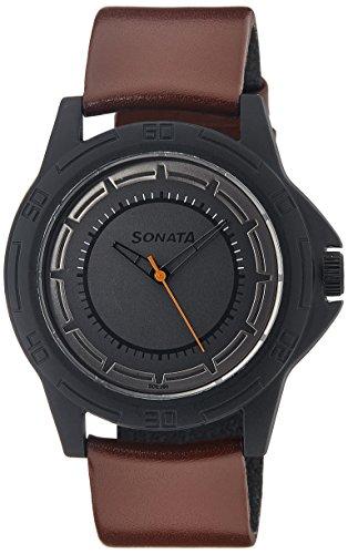 41Ferw3H68L - Sonata 77018PL01J Multi Colored Mens watch
