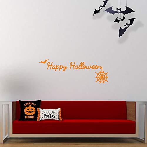 - kursiv Happy Halloween - 35,6 x 101,6 cm - lustige Jahreszeiten-Buchstaben-Dekoration - Kinder Teenager Erwachsene Innen Außen Wand Fenster Wohnzimmer Büro Decor 14