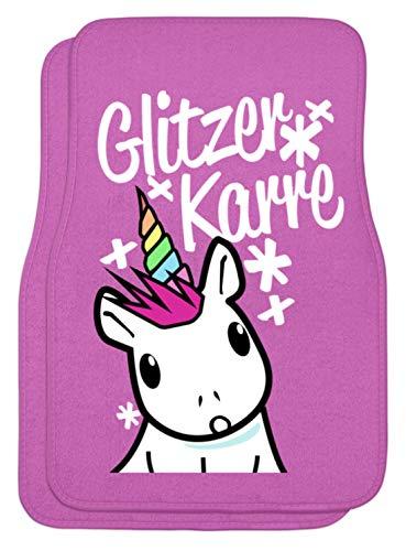 Shirtee Glitzer Karre O_o - Automatten -44x63cm-Pink