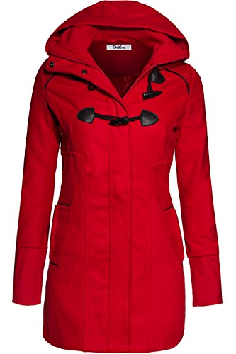 bodilove-womens-sophisticated-duffle-coat-with-detachable-hood-red-m-jw2095-heather-gray-outerwear