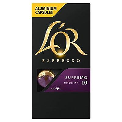 L'OR Espresso Nespresso* Compatible Aluminium Coffee Capsules (Pack of 10, 100 Capsules in Total)