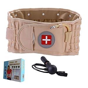 OMZBM Kompression Dekompression 2-in-1-Rückenstütze Lumbal-Traktionsgerät Physiotherapie-Schmerzlinderung im unteren Taillenbereich zu Hause Lenden/Rückenbandgröße für 45-55 Zoll