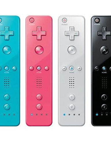 LEBULI 2 in 1 Remote Controller Built in Motion Plus for Nintendo Wii Console Game , pink LIU8