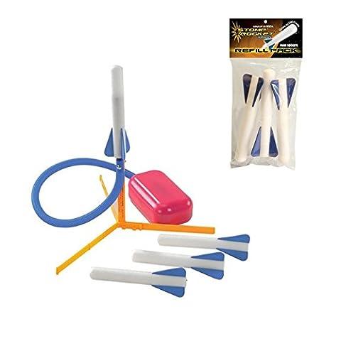 Junior Stomp Rocket Kit Air Powered Foam Rocket + Free