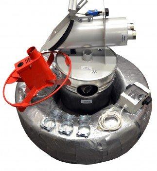 pelletsaug Système avec turbine externe, taupe, à éplucher les etauf Récipient de pêche, Pelltech