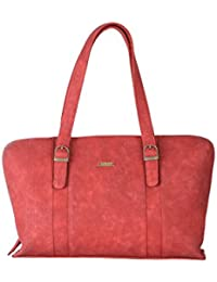 Strutt Red Textured Leatherette Handbag