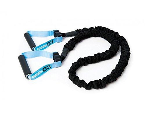 Escape Fitness Resistance Widerstandsbänder Gymnastikband Expander für Ganz-Körper-Workout mit Griffen Tube, schwarz/Blau, Level 3 -
