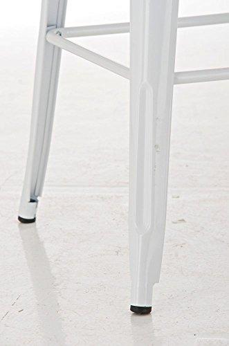 CLP Metall Stehtisch LOGAN Bartisch weiß - 6