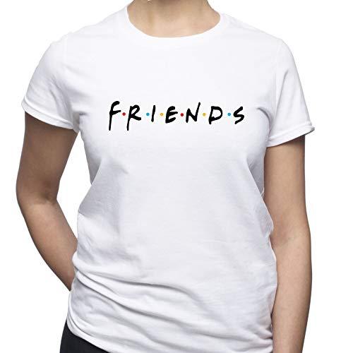 EUGINE DREAM Friends TV Logo Friends TV Series Damen T-Shirt Weiß S