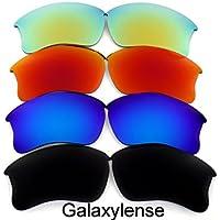 Galaxylense lentes de repuesto para Oakley Flak Jacket XLJ gris y verde y morado y rojo Color Polarizados 4 Pares,GRATIS S&H