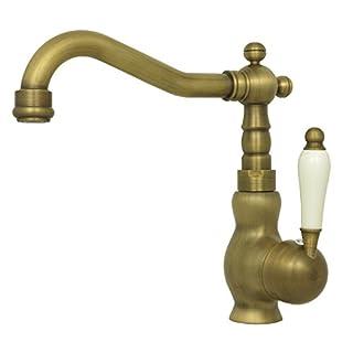 Retro Waschbecken Waschtisch Armatur Einhebelmischer Einhand Mischbatterie Nostalgie Wasserhahn Hochdruck Bad Badezimmer Antik
