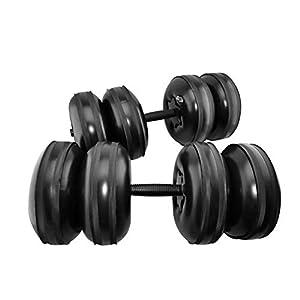 Freedconnne 2Pack Gewichtheben Dumbbells Wasser gefüllte Dumbbells 25kg Premium Kunststoff Watered Dumbbells Einstellbare Tragbare Reise Hanteln für Männer Frauen Sport Übung