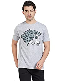 Redwolf Winter is Coming HBO® Licensed Game Of Thrones Half Sleeve Cotton T-shirt