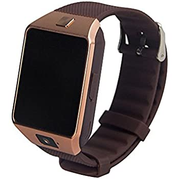 KOBWA DZ09 - Reloj Inteligente con Bluetooth para cámara, con Ranura para Tarjeta SIM/