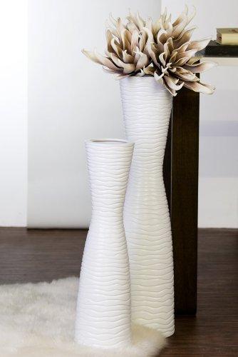 Casablanca Vase Tamera Keramik,weiß,H.77/D.16