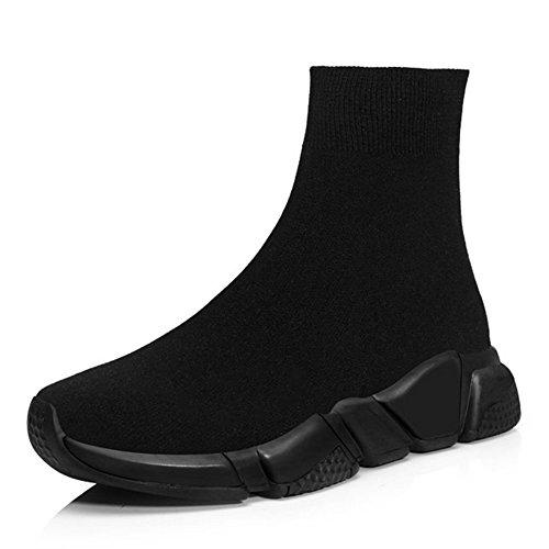 RoseG Herren Damen Mode Sliper Schuhe Unisex Leichte Atmungsaktive Sneakers Outdoor Turnschuhe Schwarz Size43 -