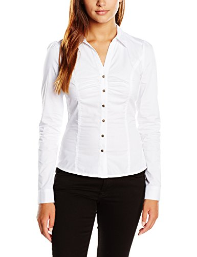 morgan-womens-fitted-waist-long-sleeve-shirt-white-12