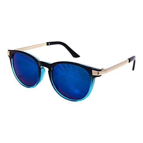 Occhiali da sole round style 228 blue banana alternative fashion (blu)