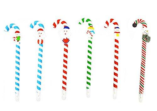 Yalulu 8 Stück Niedlich Karikatur Weihnachten Schreiben Malen Stift Zeichnen Hochwertiges Fimo Kugelschreiber