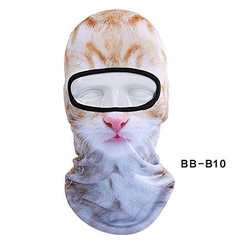 (Inovey Motorrad Gesichtsmaske Abdeckkappen Winter Warm 3D Tier Balaclava Hals Hut Outdoor Headcover Für Halloween Weihnachtsfeier Skifahren)