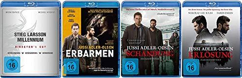 Stieg Larsson - Millennium Trilogie Verblendung + Verdammnis + Vergebung und Erbarmen + Schändung + Erlösung [Krimi Blu-ray Set