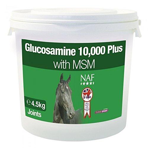 NAF Glucosamin 10,000 Plus mit MSM (Dimethylsulfon) (4,5 kg) (Kann variieren)