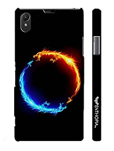 Sony Xperia Z1 I am Hot N' I am Cold designer mobile hard shell case by Enthopia