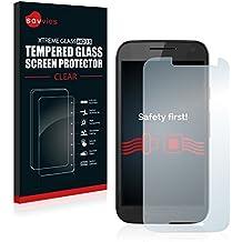 Savvies Protector Cristal Templado Motorola Moto G3 / G 3. Generation Protector Pantalla Vidrio - Dureza 9H