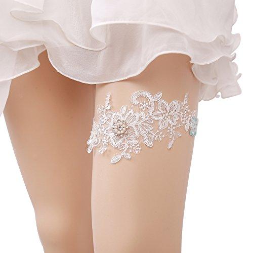 Zoylink giarrettiera da sposa, giarrettiera con giarrettiera da sposa in tulle con strass e giarrettiera per matrimonio
