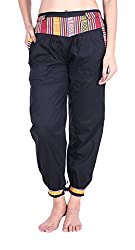 Soundarya Womens Cotton Pant (Black, 39)