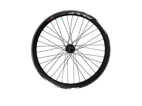 Tiefer V 43mm Hinterrad für Fixie, Fixed Gear, Track, Single Speed Bike, schwarz