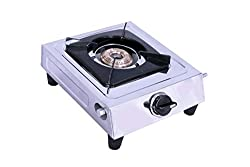 Knight Flame Stainless Steel Body Single Burner Gas Stove Cute Stove Manual Ignition Brass Burners