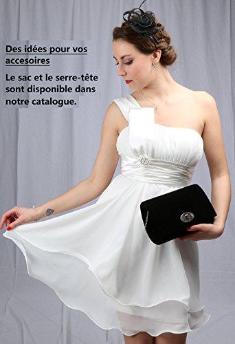 Pochette da donna da cerimonia in stile Kate Middleton sac001 Rond Noir