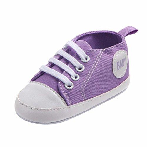 (MEIbax Neugeborene Baby Jungen Mädchen Kleinkind Schuhe Freizeit Mode Canvas Anti-Rutsch Weiche Sohle Lauflernschuhe Sneaker Baby Jungen Bequem Flach Weiche Sohle)