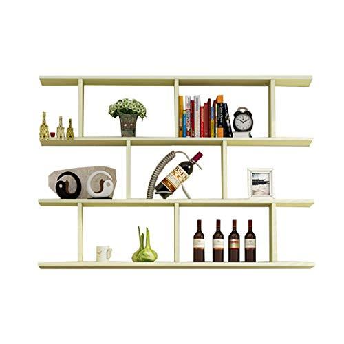 Holz-speicher-wand-einheit (SYF Holz 3-Schicht Wand-montiert Racks Wand Dekoration Rahmen Einheit Speicher Display Rack Kreative Bücherregal Display Rack Familie Lagerregal 100X20X96.4CM A+ (Farbe : A))
