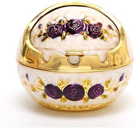 XIUXIU Copertura Creativa posacenere Europea posacenere Ornamenti Decorativi posacenere Creativa Viola Soggiorno Camera da Letto tavolino casa 8.5X7.5CM, 10X9CM (Dimensione   10X9CM) d4a1d1