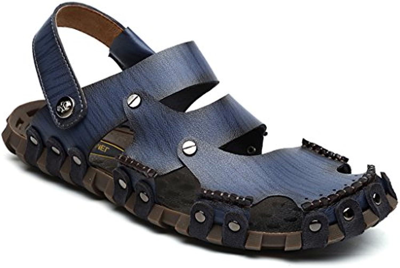 Gaatpot Herren Clogs Pantoletten Slides Sandalen Leder Freizeit Hausschuhe Strand Sandale Schuhe Sommer
