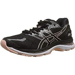 Asics Gel-Nimbus 20, Zapatillas de Entrenamiento para Mujer, Negro (Black/Frosted Rose 001), 39 EU