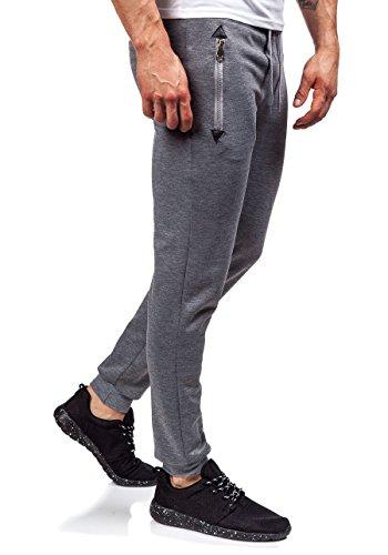 BOLF �?Pantaloni sportivi �?Jogging pantaloni �?J.STYLE 6023 �?Uomo Grigio
