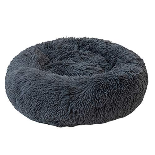 FLOX Hundebett Komfortable Donut Runde Katze Kissen Bett Ultra Weiche Waschbare Haustierbetten Verbesserte Schlaf Plüsch Haustierbett (Mehrere Größen)