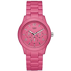 Guess Ladies Analogue Watch W11603L4 with Pink Dial