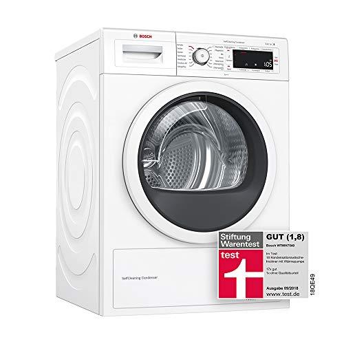 Bosch WTWH7540 Wärmepumpen-Trockner/A+++ / 176 kWh/Jahr / 148 UpM/SelfCleaning Condenser / HomeConnect