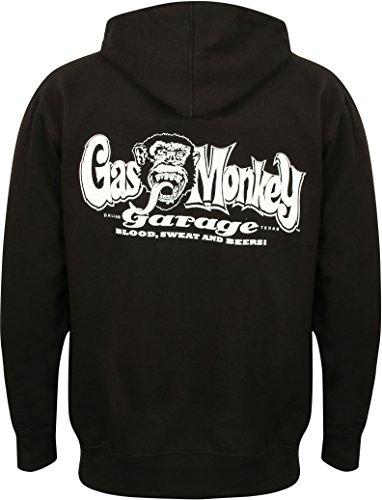 Gas Monkey Garage Zip Hoody Sparkplugs Black