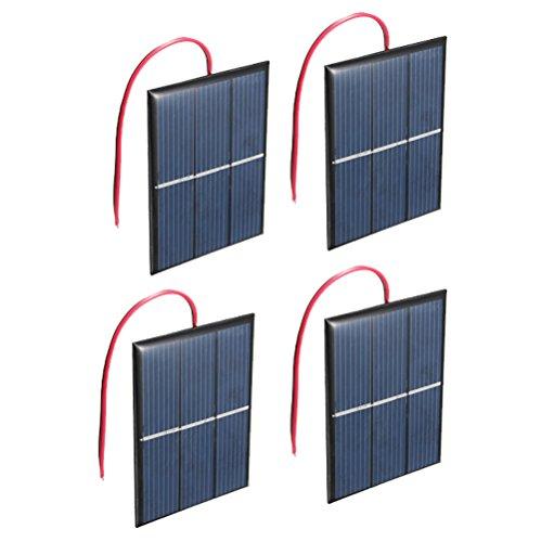 Satz von 4 Stück NUZAMAS 1.5V 0.65W 60X80mm Mikro-Mini-Solar-Panel-Zellen für Sonnenenergie, Heimwerken, Wissenschaft Projekte - Spielzeug - Akku-Ladegerät -