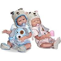 Haisen Van Gemelos Bebe Reborn muñeca Juguetes slicone Reborn bebé muñecas Regalo Navidad Lindo bebé