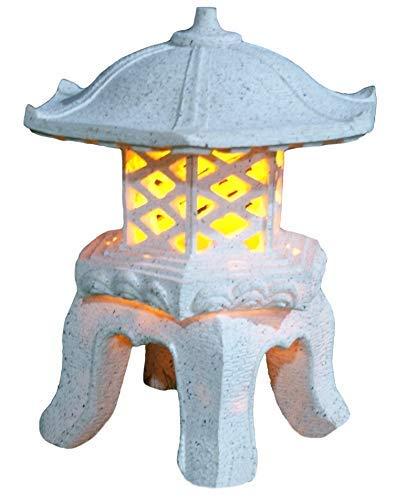 lanterna tiaan altezza 36 cm in stile giapponese, lampada da giardino solare, luce pagoda solare