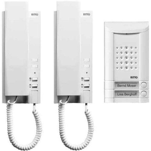 Ritto by Schneider Wired intercom system 2 Family Door-Intercoms-Set White